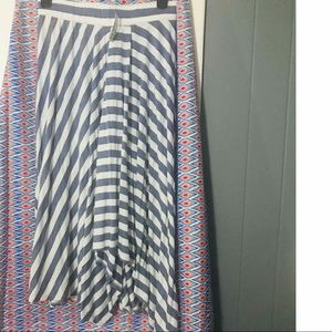 NWT Christopher and Banks Blue and White Skirt